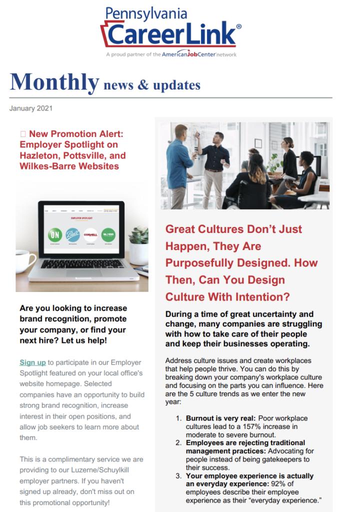 Employer Monthly Newsletter